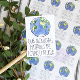 Recycled Packaging Stickers, Reused Packaging, Thank You Sticker, Happy Mail Stickers, Etsy Stickers, Small Shop