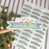 Flower Banner Thank You Sticker