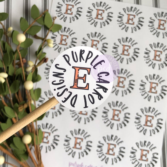 Etsy Shop Round Sticker