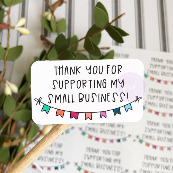 Thank You Small Business Sticker