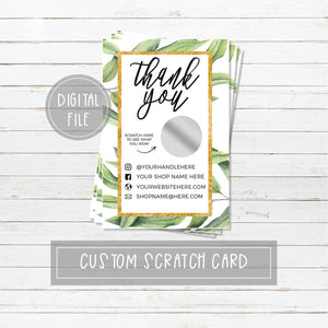 Digital Eucalyptus Branch Scratch Card