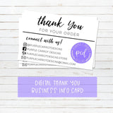 Digital Custom Business Logo Info Cards