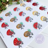 You're So Sweet Fruit Stickers