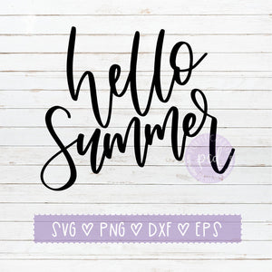 Hello Summer SVG