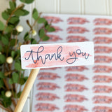 Watercolor Thank You Sticker