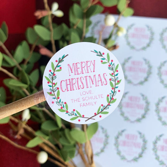 Personalized Christmas Sticker