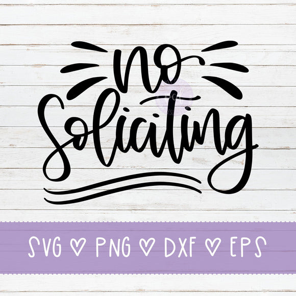 No Soliciting SVG