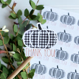 Thank You Buffalo Plaid Pumpkin Sticker