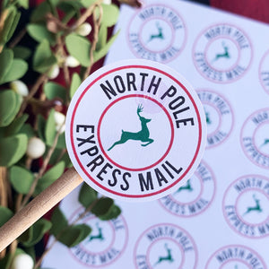 North Pole Express Sticker