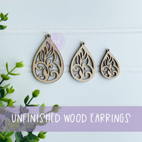 Wooden Earring Blanks