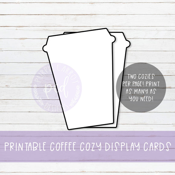 Printable Cozy Dispay Card