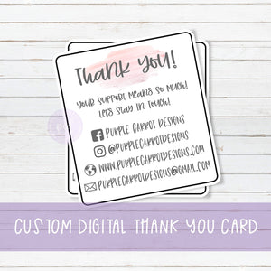 Digital Custom Business Info Cards