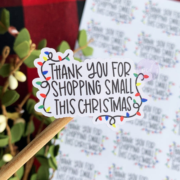 Thank You Christmas Lights Sticker ©