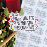 Thank You Christmas Lights Sticker