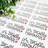 Totally Handmade, Handmade Sticker, Made By Hand Sticker, Handmade Shop, Etsy Sticker, Handmade Business, Happy Mail Stickers, Thank You