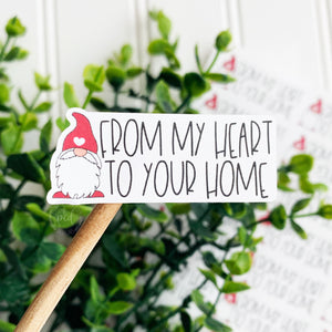 From My Heart to Your Home Valentine Sticker