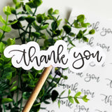 Hand Lettered Thank You Sticker