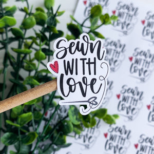 Sewn With Love Sticker