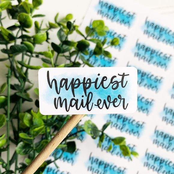 Happiest Mail Ever Sticker, Happy Mail Sticker, Etsy Sticker, Small Shop Sticker, Small Business Supplies, Etsy Supplies, Packaging Sticker