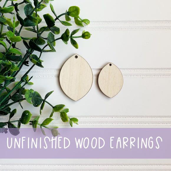 Wooden Earring Blanks, Unfinished Earrings, DIY Earrings, Wooden Earrings, Wooden Statement Earrings, Custom Earrings, Unstained Earrings
