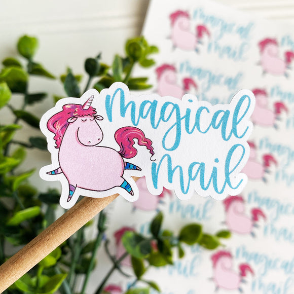Magical Mail Unicorn Sticker