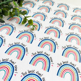The Best Mail Ever Rainbow Sticker, Etsy Sticker. Small Shop Sticker, Small Business Sticker, Snail Mail, Etsy Supplies, Happy Mail, MLM