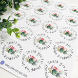 Thank You Flower Cactus Sticker