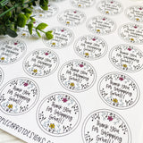 Thank You for Shopping Small Flower Sticker