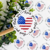 Thank You Ameican Flag Sticker