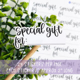 Special Gift Sticker
