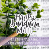 Happy Bandana Mail Sticker