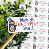 Thank You For Shopping Small Patriotic Sticker
