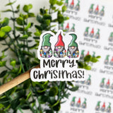 Merry Christmas Gnome Sticker
