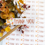 Thank You Fall Sticker