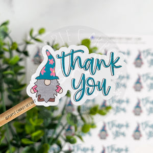 Thank You Flower Gnome Sticker©