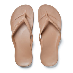 Archies arch support thongs - Tan
