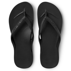 Buy Archies arch support black thongs online at Northern Shoe Store above