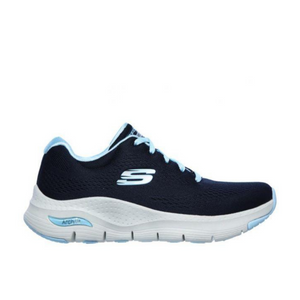 SKECHERS ARCH FIT WOMENS SUNNY OUTLOOK - NAVY/LIGHT BLUE