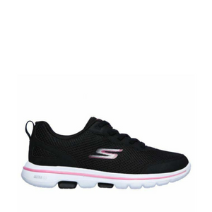 SKECHERS GO WALK 5 GUARDIAN - BLACK/HOT PINK