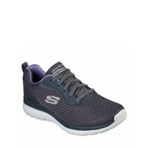 SKECHERS BOUNTIFUL QUICK PATH - CHARCOAL/LAVENDER