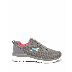 SKECHERS BOUNTIFUL QUICK PATH - GREY/CORAL