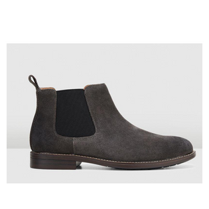 HUSH PUPPIES HANGER BOOT - IRON SUEDE