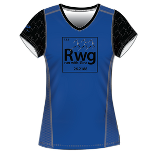 Run With Gina ELITE Blue Performance Short Sleeve Shirt *PREORDER*