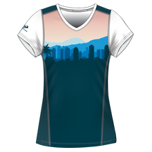 Load image into Gallery viewer, Run With Gina ELITE Cityscape Performance Short Sleeve Shirt *PREORDER*