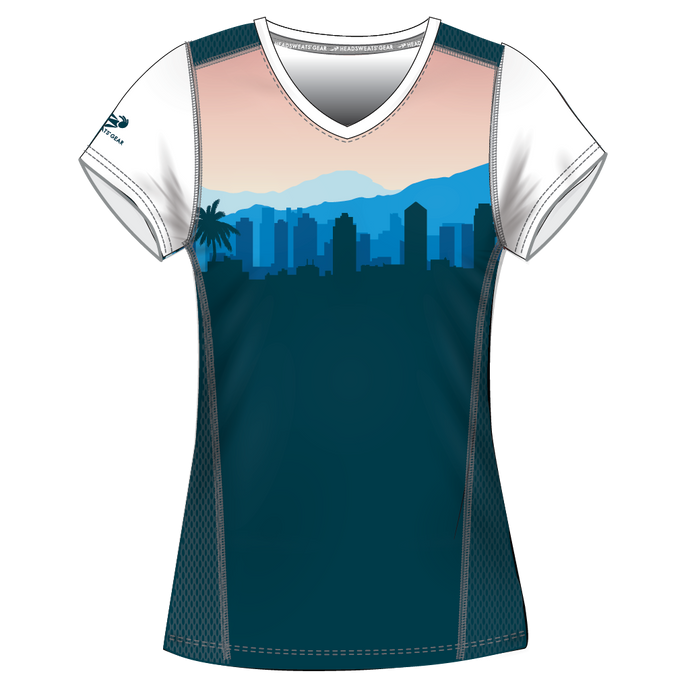 Run With Gina ELITE Cityscape Performance Short Sleeve Shirt *PREORDER*