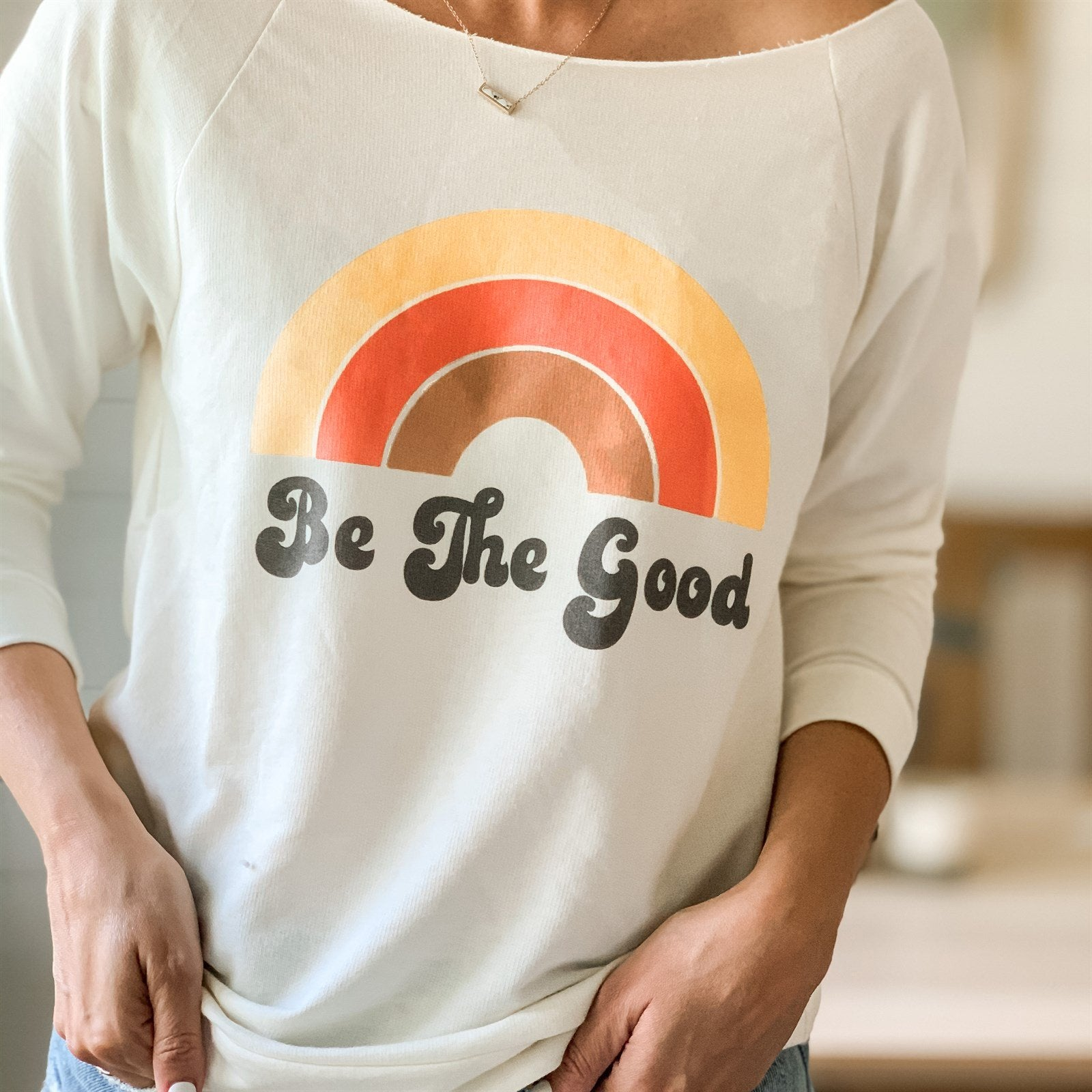 Be The Good Raw Edge Pullover