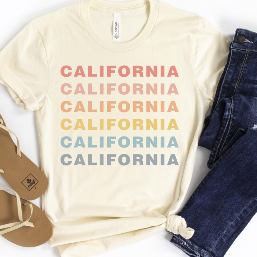 California Pastel Graphic Tee
