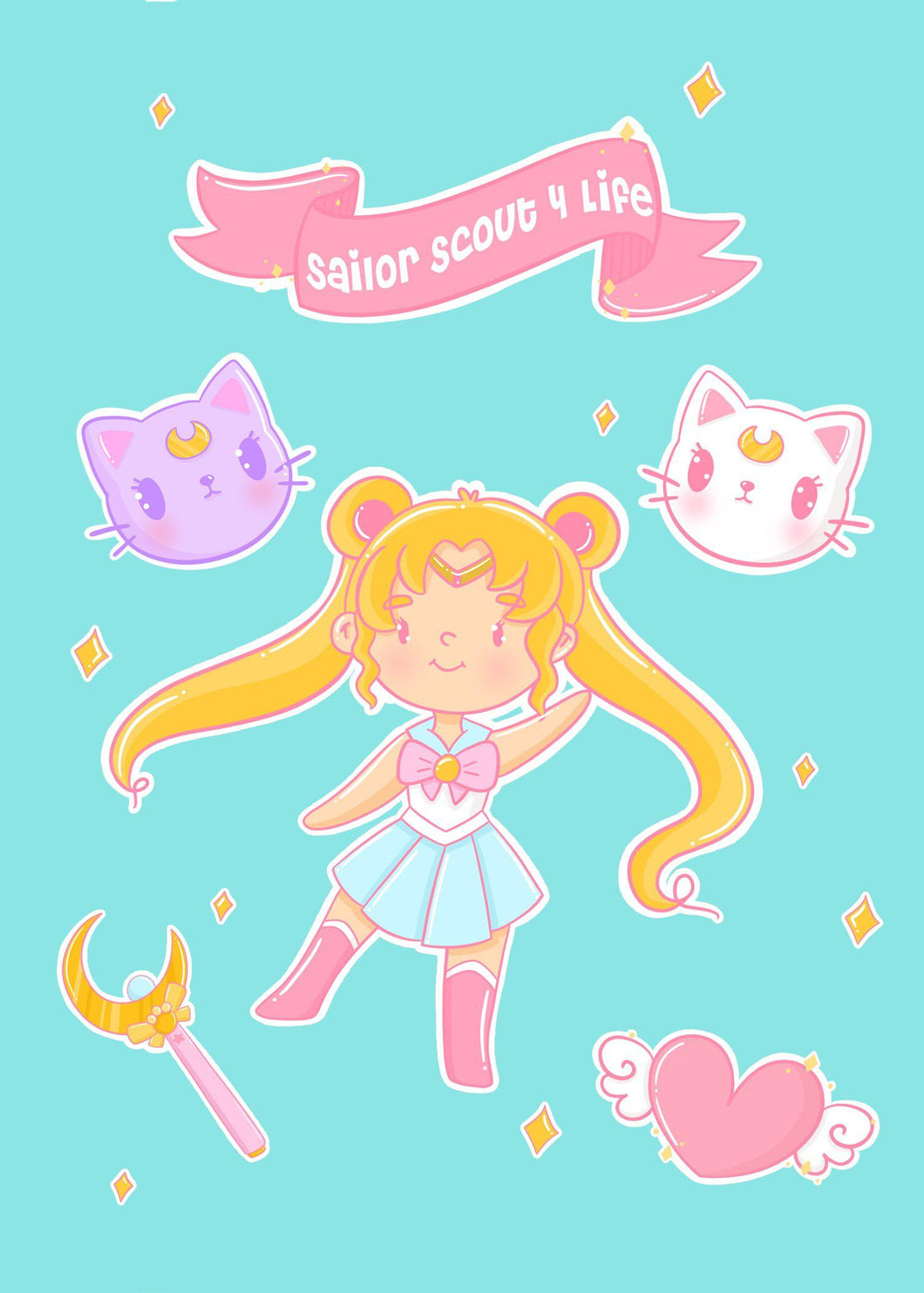 Sailor Scout 4 Life Stickers