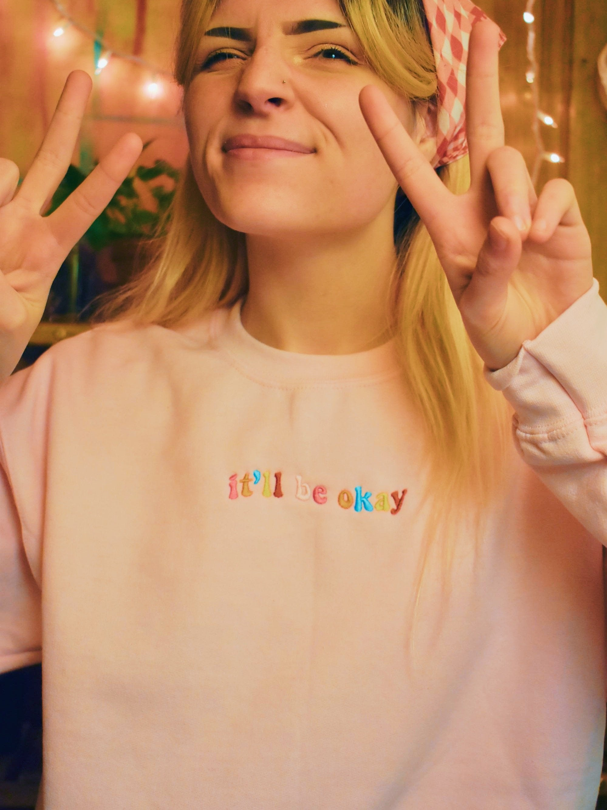 It'll Be Ok Embroidered Pullover Back In Stock