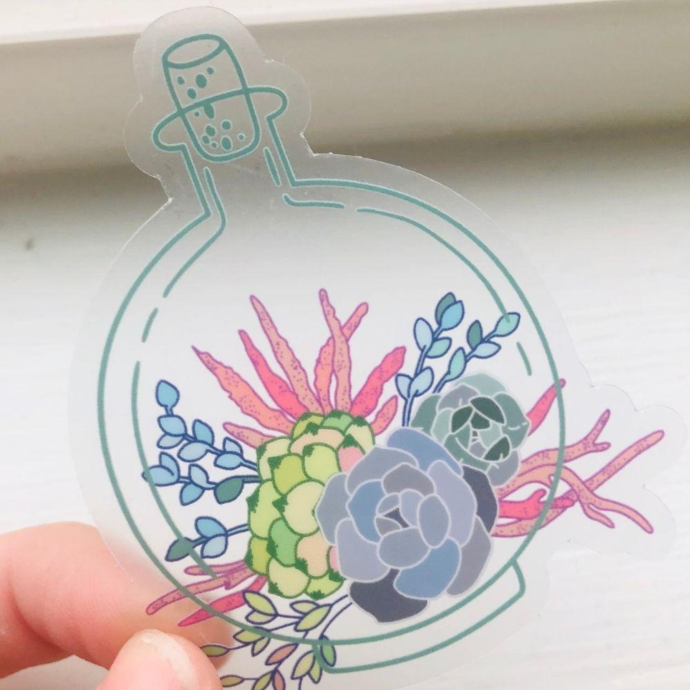 Terrarium #2 Clear Vinyl Sticker